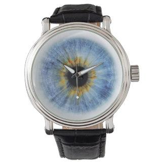 Human blue eyeball, iWatch Wristwatch
