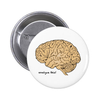 Human Brain: Analyze This! 2 Inch Round Button