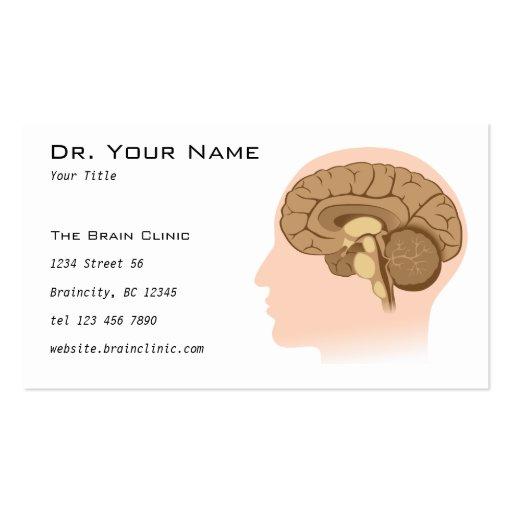 Human brain anatomy Business Card