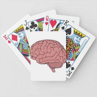 Human brain bicycle playing cards