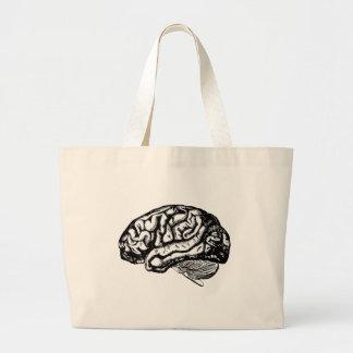 human brain large tote bag