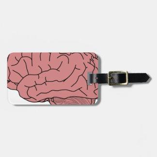 Human brain luggage tag