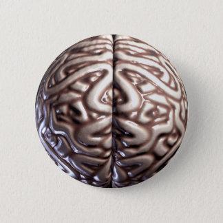 Human Brain Pin Buttons