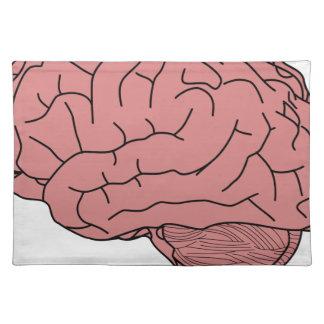 Human brain placemat
