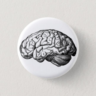 Human Brain Spooky button pin