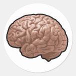 Human Brain Stickers Round Sticker