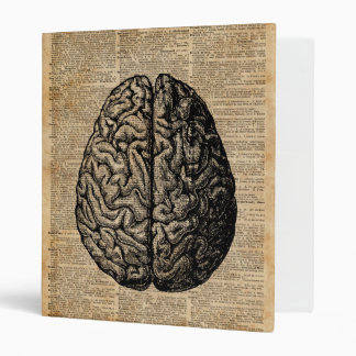 Human Brain Vintage Illustration Dictionary Art Vinyl Binders