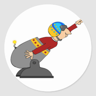 Human Cannonball Classic Round Sticker