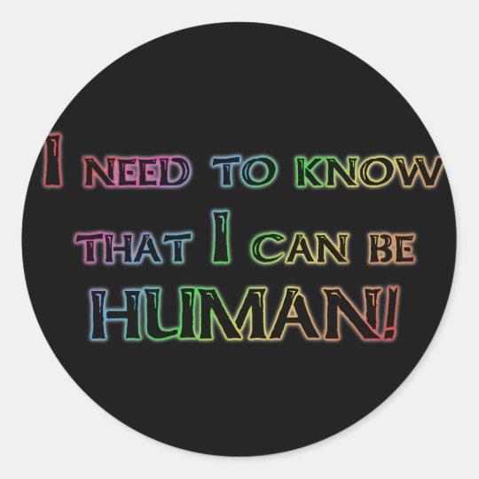 Human Classic Round Sticker
