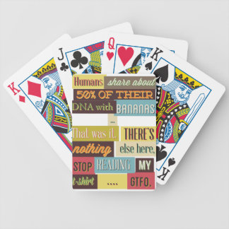 human dna texting design bicycle playing cards