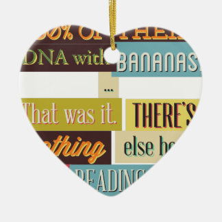 human dna texting design ceramic ornament