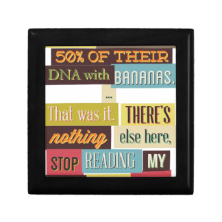 human dna texting design gift box