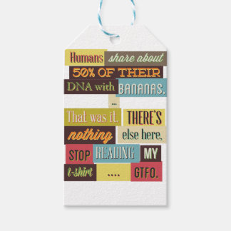 human dna texting design gift tags