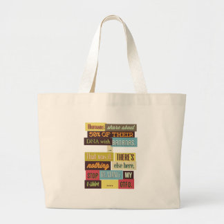 human dna texting design large tote bag