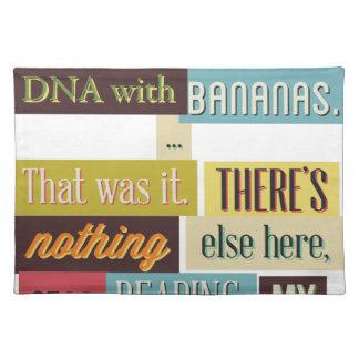 human dna texting design place mats