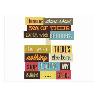 human dna texting design postcard