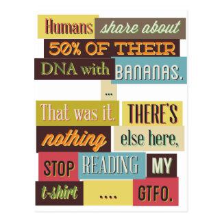 human dna texting design postcard