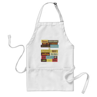 human dna texting design standard apron