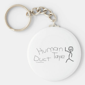 Human Duct Tape Basic Round Button Keychain