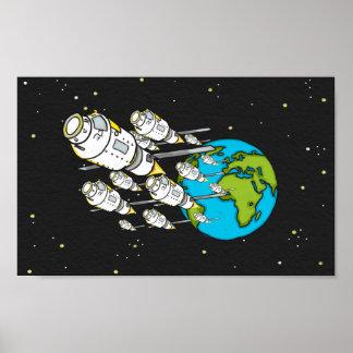 Human Evacuation Colony Ships to Earth 2 Poster
