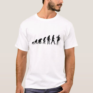 Human Evolution: Accordion Player T-Shirt