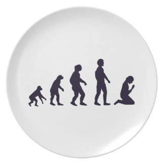HUMAN EVOLUTION, figures, gifts Plate