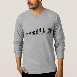Human Evolution: Hockey Player T-Shirt