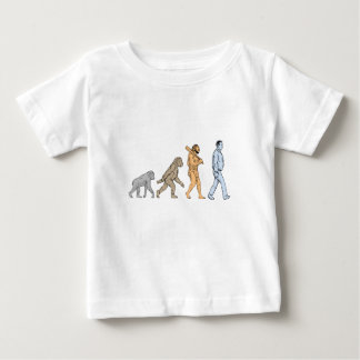 Human Evolution Walking Drawing Baby T-Shirt