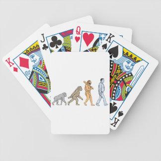Human Evolution Walking Drawing Bicycle Playing Cards