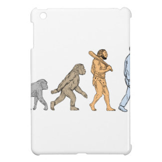 Human Evolution Walking Drawing Cover For The iPad Mini