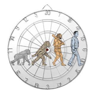 Human Evolution Walking Drawing Dartboard
