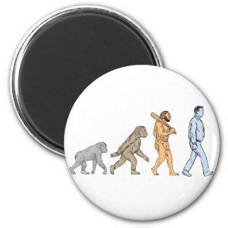 Human Evolution Walking Drawing Magnet
