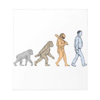 Human Evolution Walking Drawing Notepad