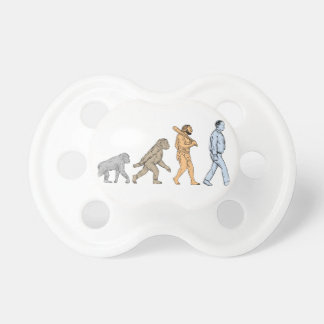 Human Evolution Walking Drawing Pacifier