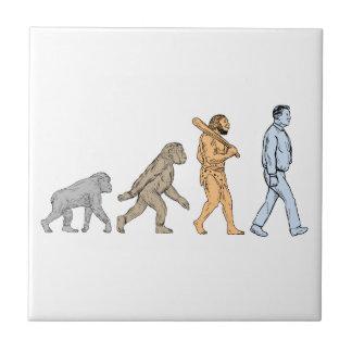 Human Evolution Walking Drawing Tile