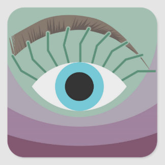 human eye square sticker