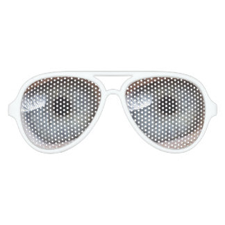 Human eyes aviator sunglasses