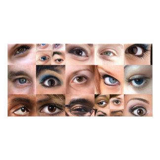 Human Eyes Montage Photo Card