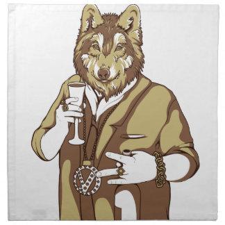 human germane dog drinking napkin
