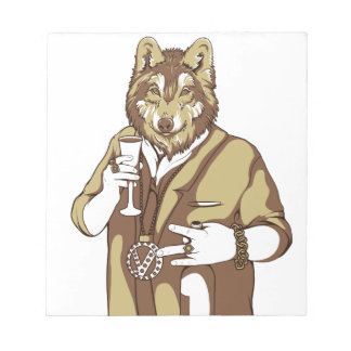 human germane dog drinking notepad