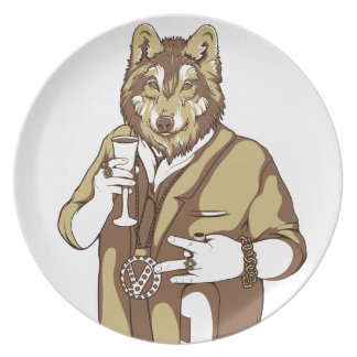 human germane dog drinking plate