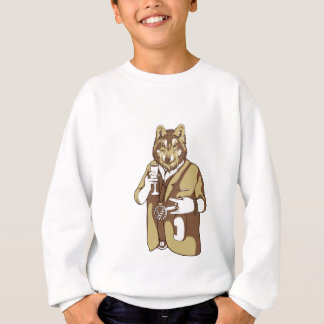 human germane dog drinking sweatshirt