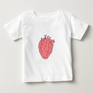 Human Heart Anatomy Drawing Baby T-Shirt