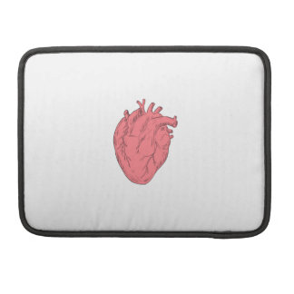 Human Heart Anatomy Drawing Sleeve For MacBook Pro