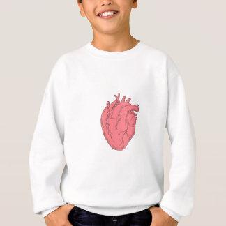 Human Heart Anatomy Drawing Sweatshirt