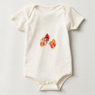 Human heart model isolated on white background baby bodysuit