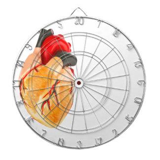 Human heart model on white background dart boards