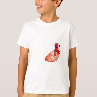 Human heart model on white background T-Shirt