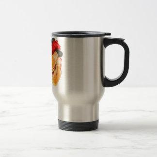 Human heart model on white background travel mug