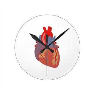 HUMAN HEART ROUND CLOCK